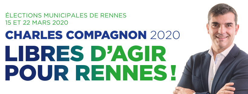 Charles Compagnon, candidat aux élections municipales, écrit aux Rennais